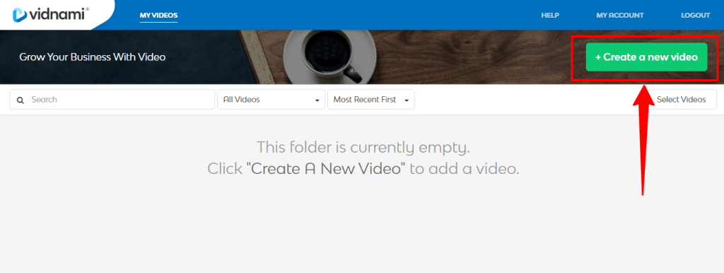Vidnami-create-a-new-video-button