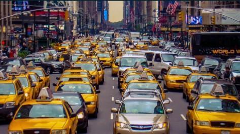 taxi on road coronavirus