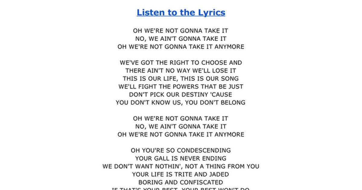 Lyric ain t no way lyrics : Lyrics -