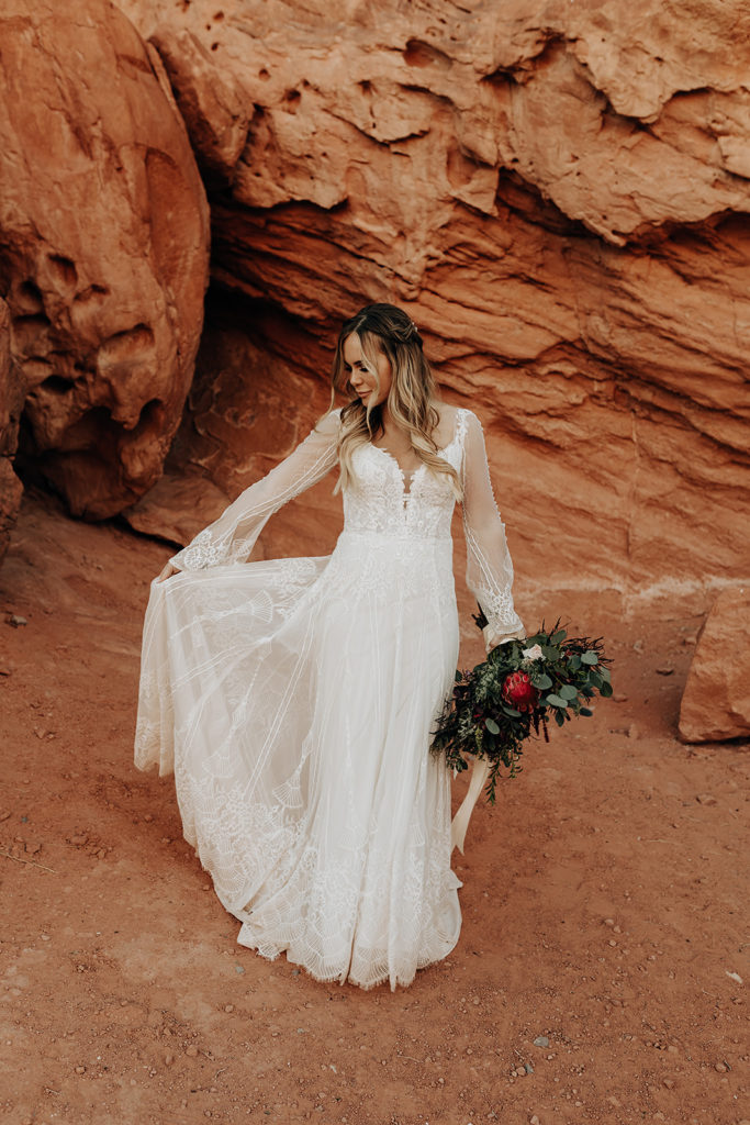 How to Fly with Your Wedding Gown for Your Destination Elopement
