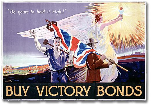 War Poster - Victory Bonds: Be Yours to Hold It High! [Canada], [between 1914 and 1918]