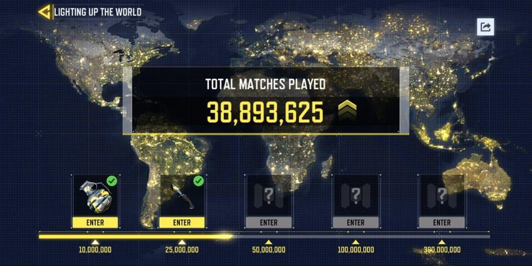 Jumlah pertandingan yang telah berlangsung di COD Mobile semenjak pertama kali rilis. sumber: dotesports