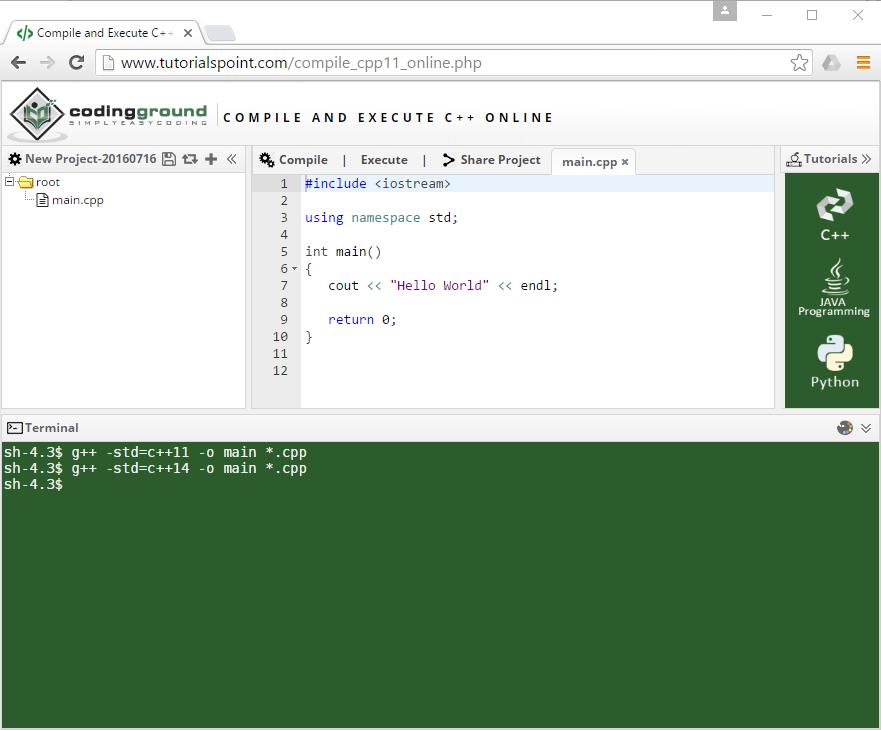Online c compilers c island Online visual c compiler