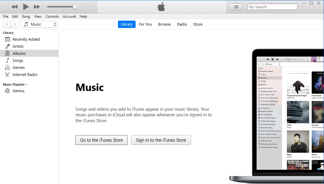 iTunes in safe mode