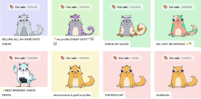 Cryptokitties game