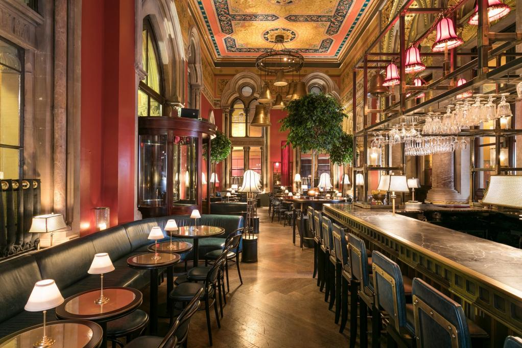 The Gilbert Scott bar where John Arlidge met Bass and Geoghegan