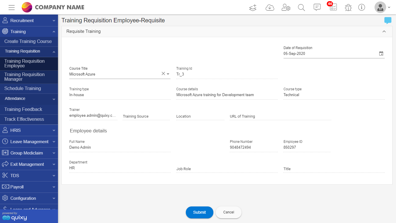 employee requisition_quixy ss