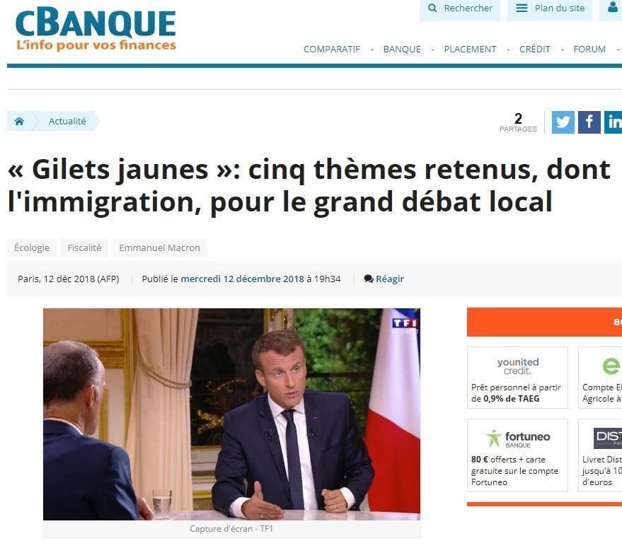 Macron - Gilets jaunes - cBanque - TF1
