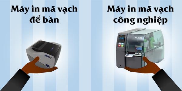 Máy in mã vạch thường được phân thành hai dòng máy chính đó là máy in mã vạch để bàn và máy in mã vạch công nghiệp!