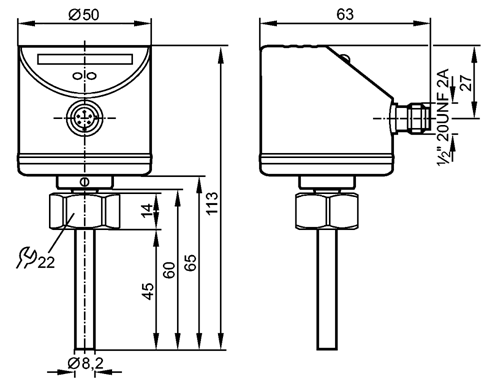 Калориметрическое реле потока жидкости SI5010