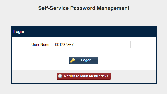 Password Management Username