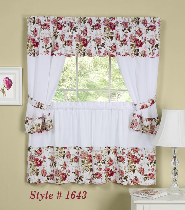 Apple Orchard Kitchen Curtain with Swag and Tier Set 36 in ...