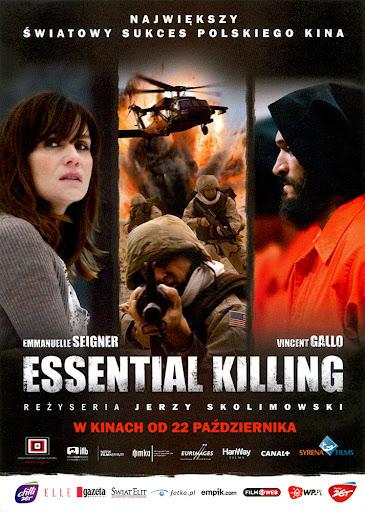 Przód ulotki filmu 'Essential Killing'