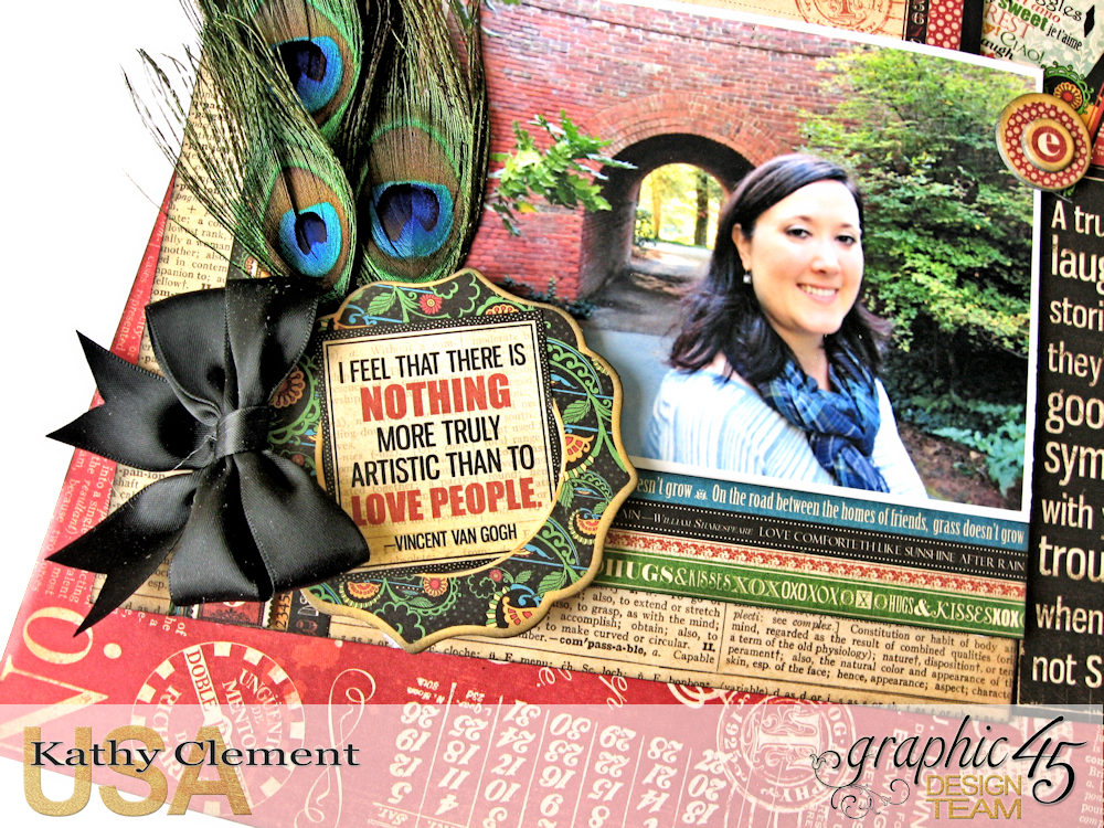 Ciao Bella Layout Tutorial Typography by Kathy Clement Product by Graphic 45 Photo 4 .jpg