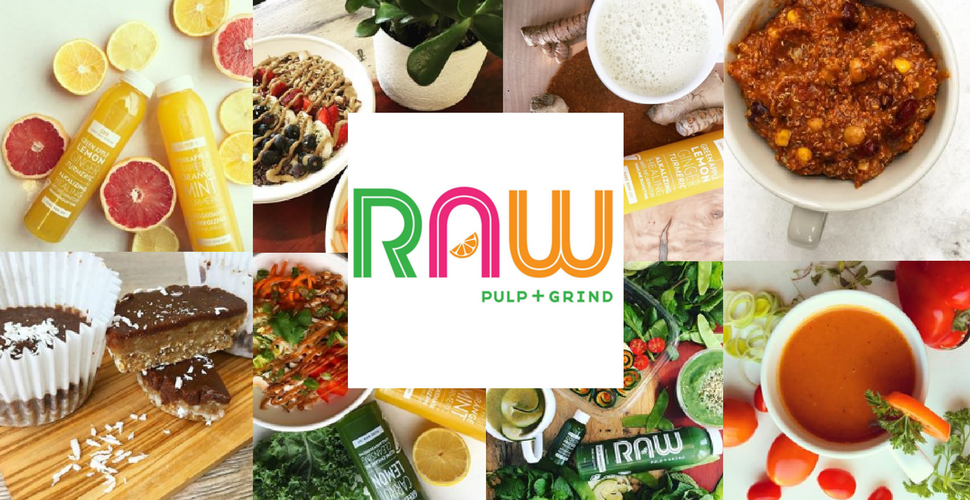 Photo montage of the Raw Pulp and Grind