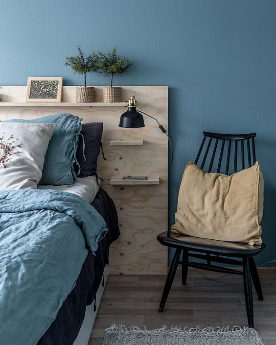Bedside Table Attached To The Headboard