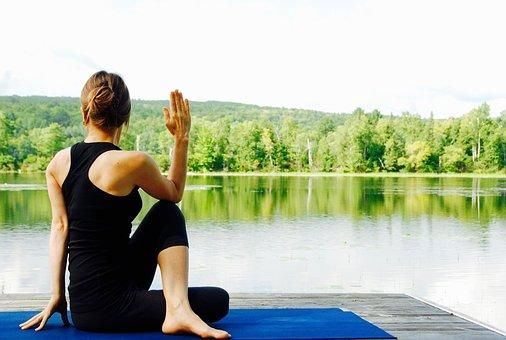 Yoga, Woman, Nature, Landscape, Meditate