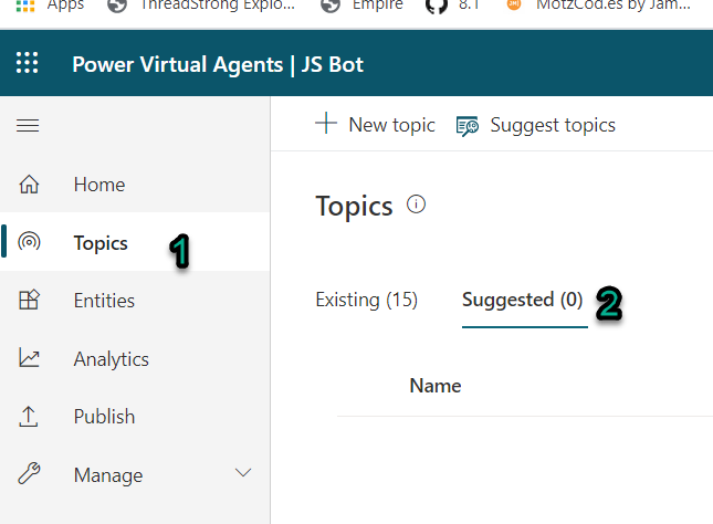 Building a FAQ bot using Power Virtual Agents