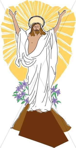 Risen Jesus Clipart