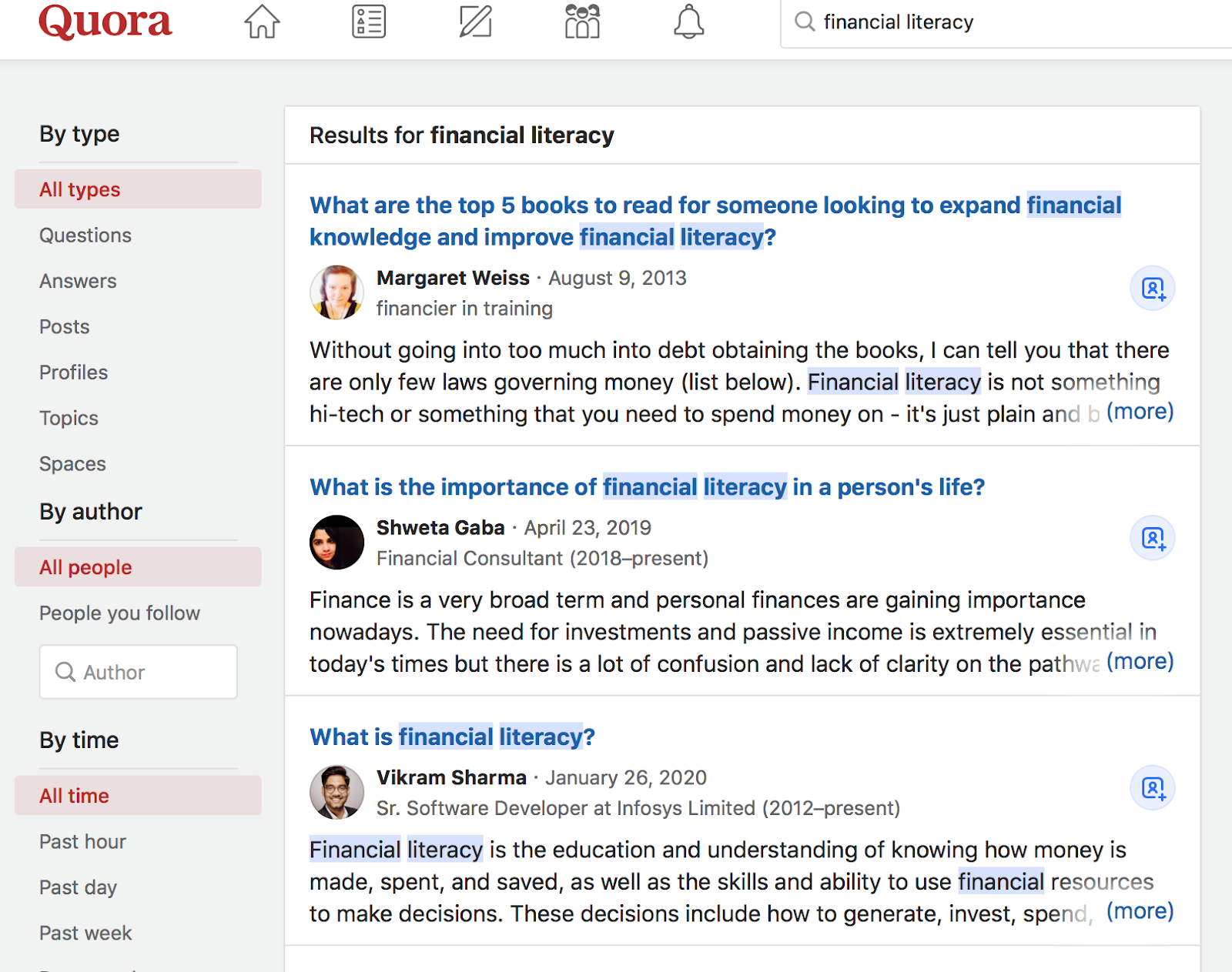 example of keyword research using forums like Quora