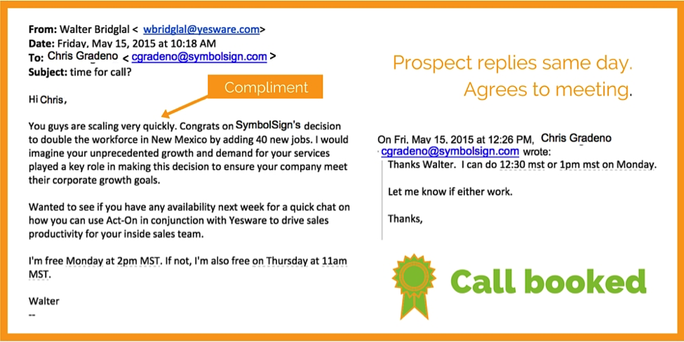 personalize prospecting emails example