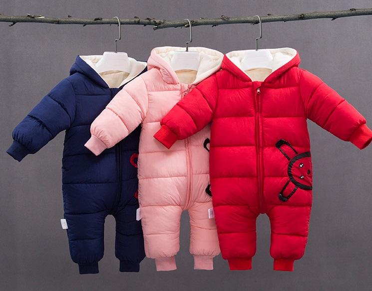 Najpiękniejszy kombinezon puchowy niemowlęcy zimowy jednoczęściowy i dwuczęściowy dla dziewczynki 2018