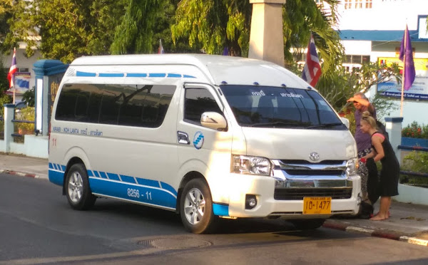 Hourly shared minivan from Krabi to Koh Lanta