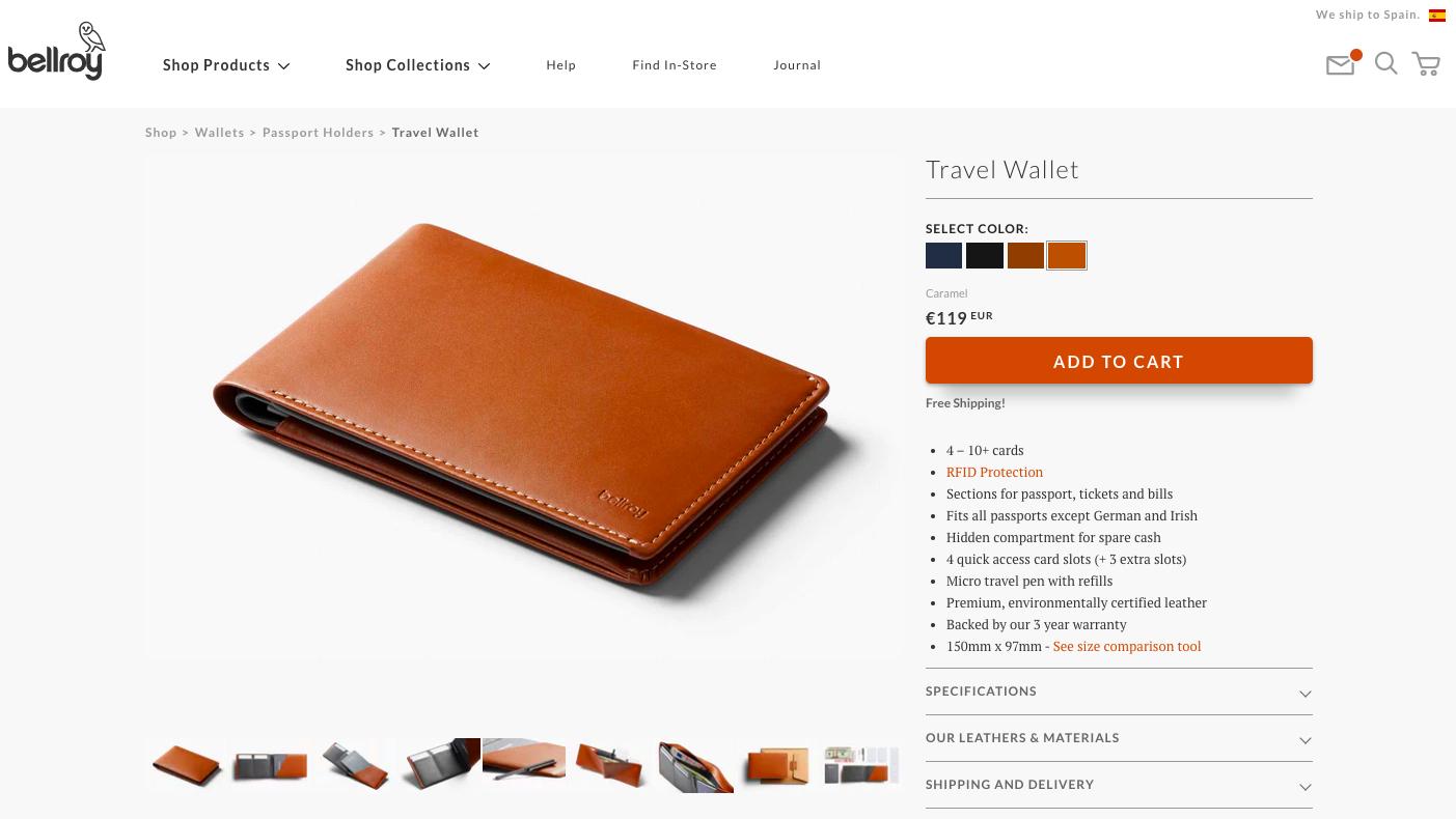 karta produktu dla portfela