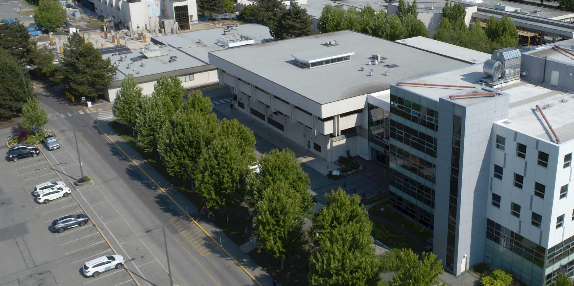 Aerial photo of Okanagan college in Kelowna