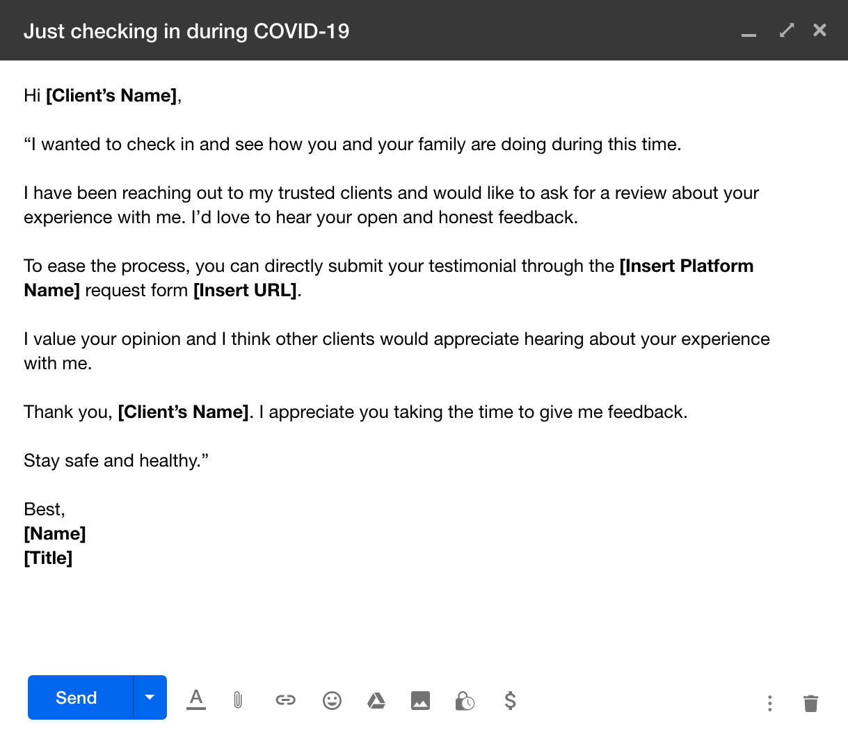 email template to request client testimonials