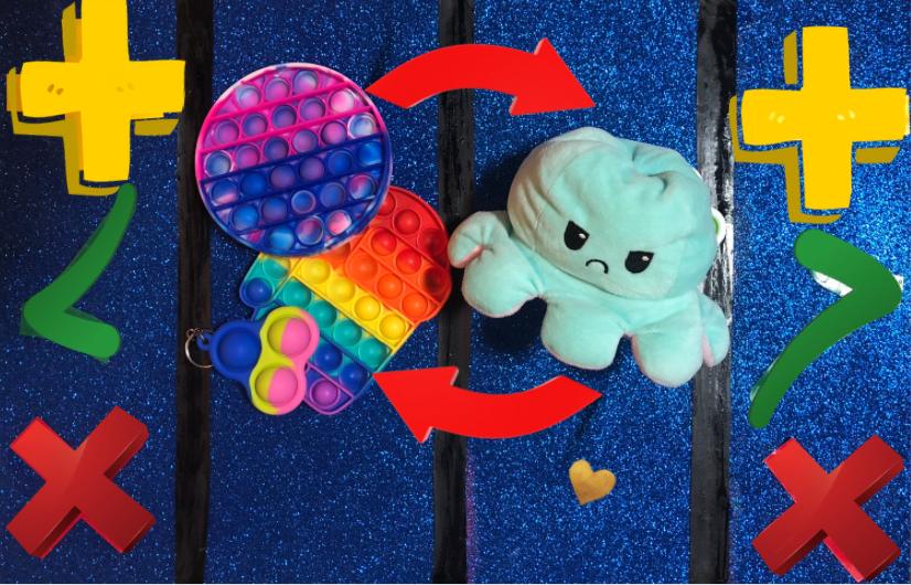 tabuleiro de troca de fidget toys
