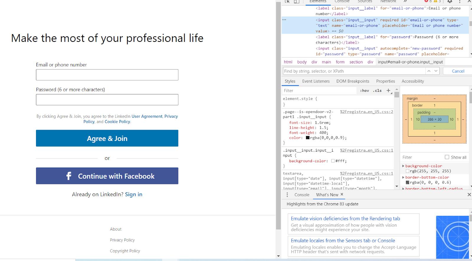 locating HTML element