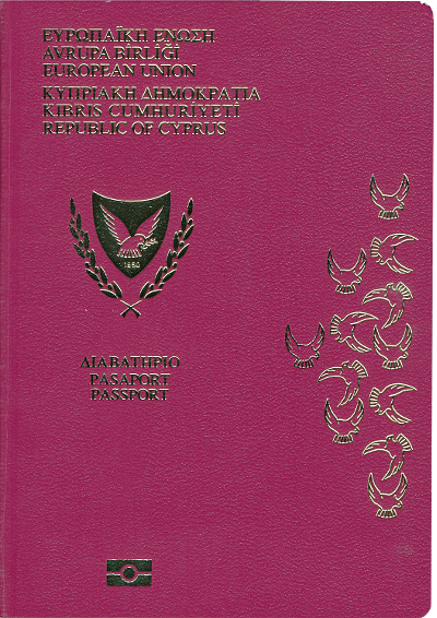Cypriot passport cover