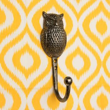 an owl shaped hook