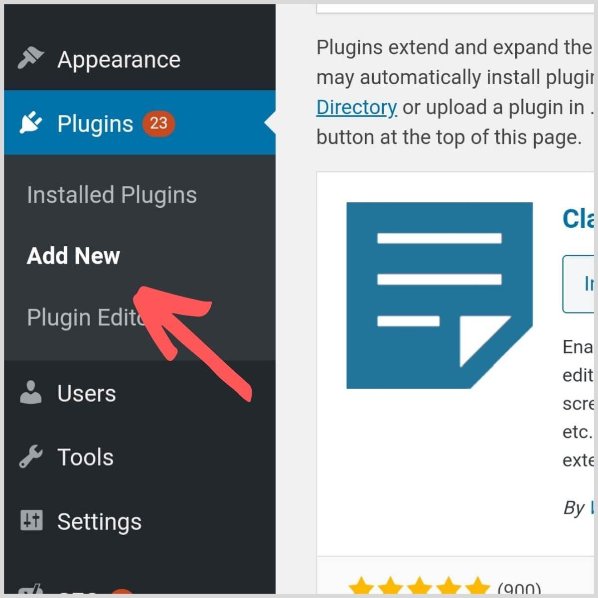 Install a WordPress plugin instruction