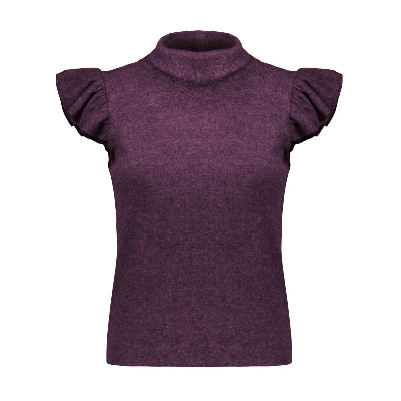 ست تی شرت و شلوار زنانه افراتین کد 6552 رنگ زرشکی