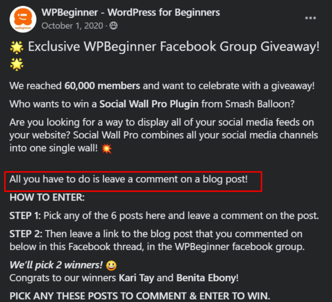 Run a giveaway with RafflePress to get more comments