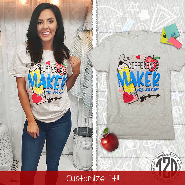 Difference maker personalized shirt
