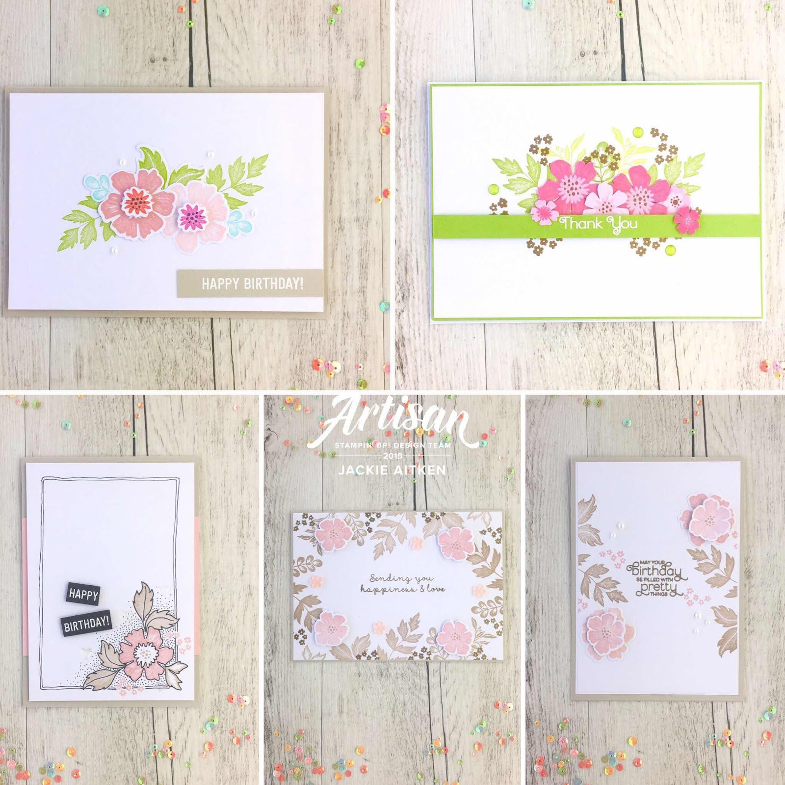 Jaxx Crafty Creations, Stampin Up, Everything Is Rosy, Rose Gold, Floral Cards, Card Kit, Artisan Design Team 2019,