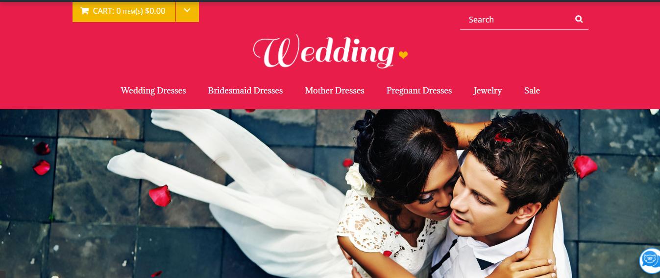 Wedding - Wedding Opencart theme