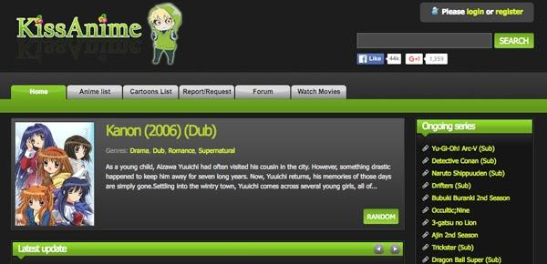 kissanime - anime websites