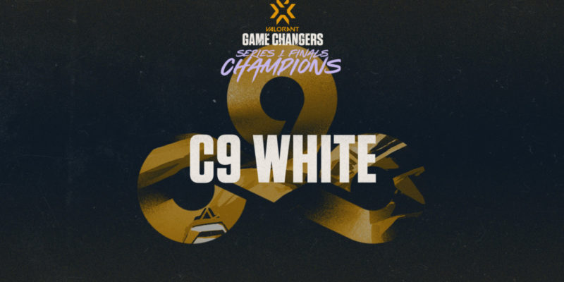 C9 White has won the debut season of the non-male VCT Game Changers championship 2021