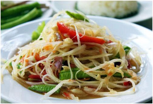 Món som tam được coi là món ngon nhất của Thái Lan