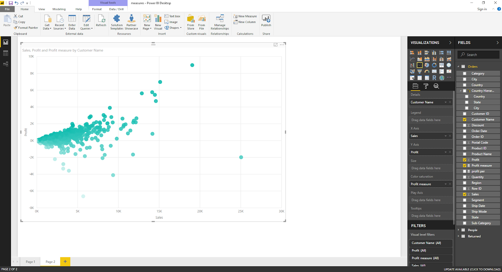 Scatter Plot Chart in Microsoft Power BI 35
