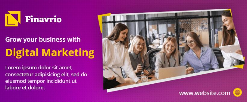 Facebook Banner Background for Digital Marketing