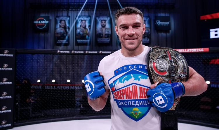 Nemkov with the Bellator belt