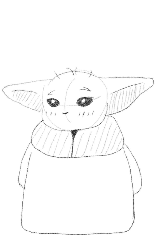 How to Draw Baby Yoda - mYeBEAT