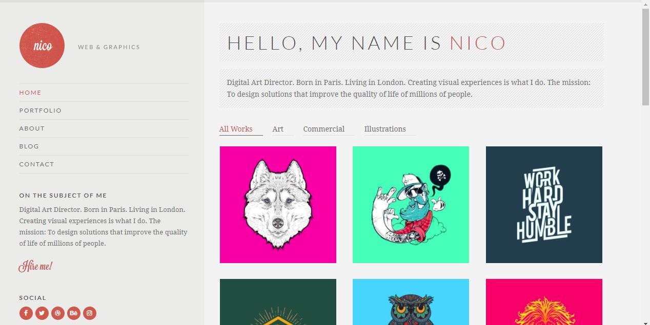 Nico Masonry WordPress Themes