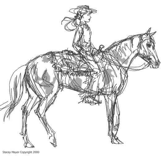 Pinto Horse Coloring Pages: Paint Horse Coloring Pictures